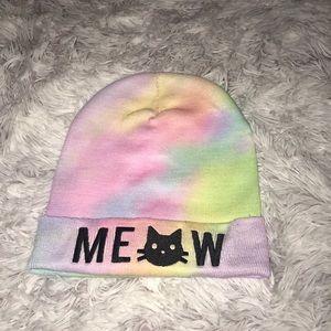 Cute rainbow beanie